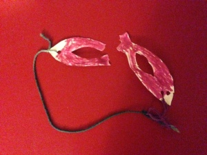 Jace's masterpiece mask that Mommy broke